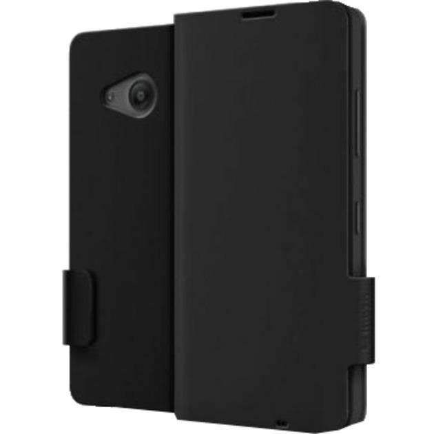 "Flip Cover Lumia 550 11,9 cm (4.7"") Libro Negro, Funda protectora"