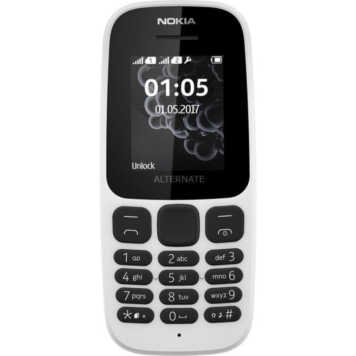 """105 4,57 cm (1.8"""") 73 g Blanco Característica del teléfono, Móvil"""