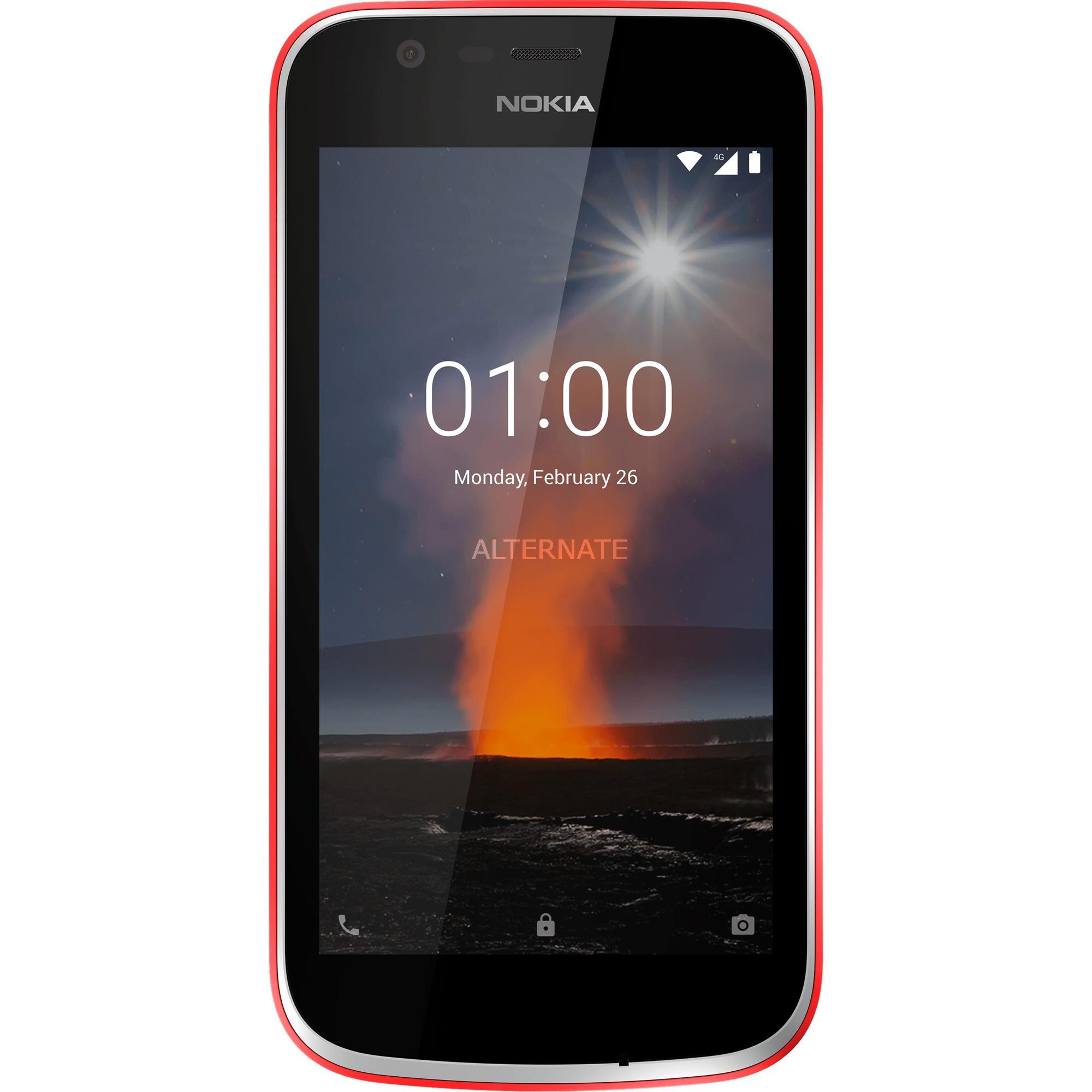 "1 11,4 cm (4.5"") 1 GB 8 GB SIM doble 4G Rojo 2150 mAh, Móvil"