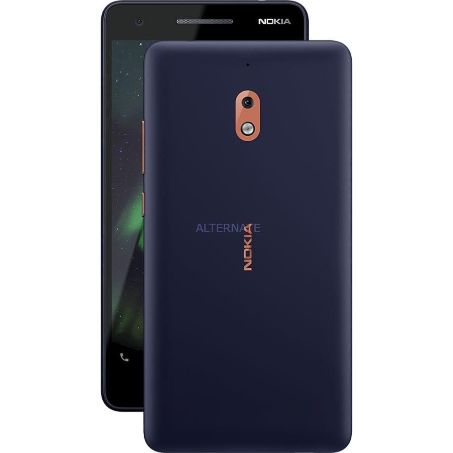 "2.1 14 cm (5.5"") 1 GB 8 GB SIM doble 4G Azul, Cobre 4000 mAh, Móvil"