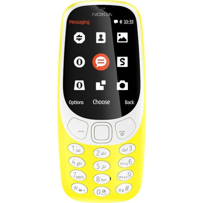 """3310 6,1 cm (2.4"""") Amarillo Característica del teléfono, Móvil"""