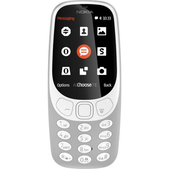"3310 6,1 cm (2.4"") Gris Característica del teléfono, Móvil"