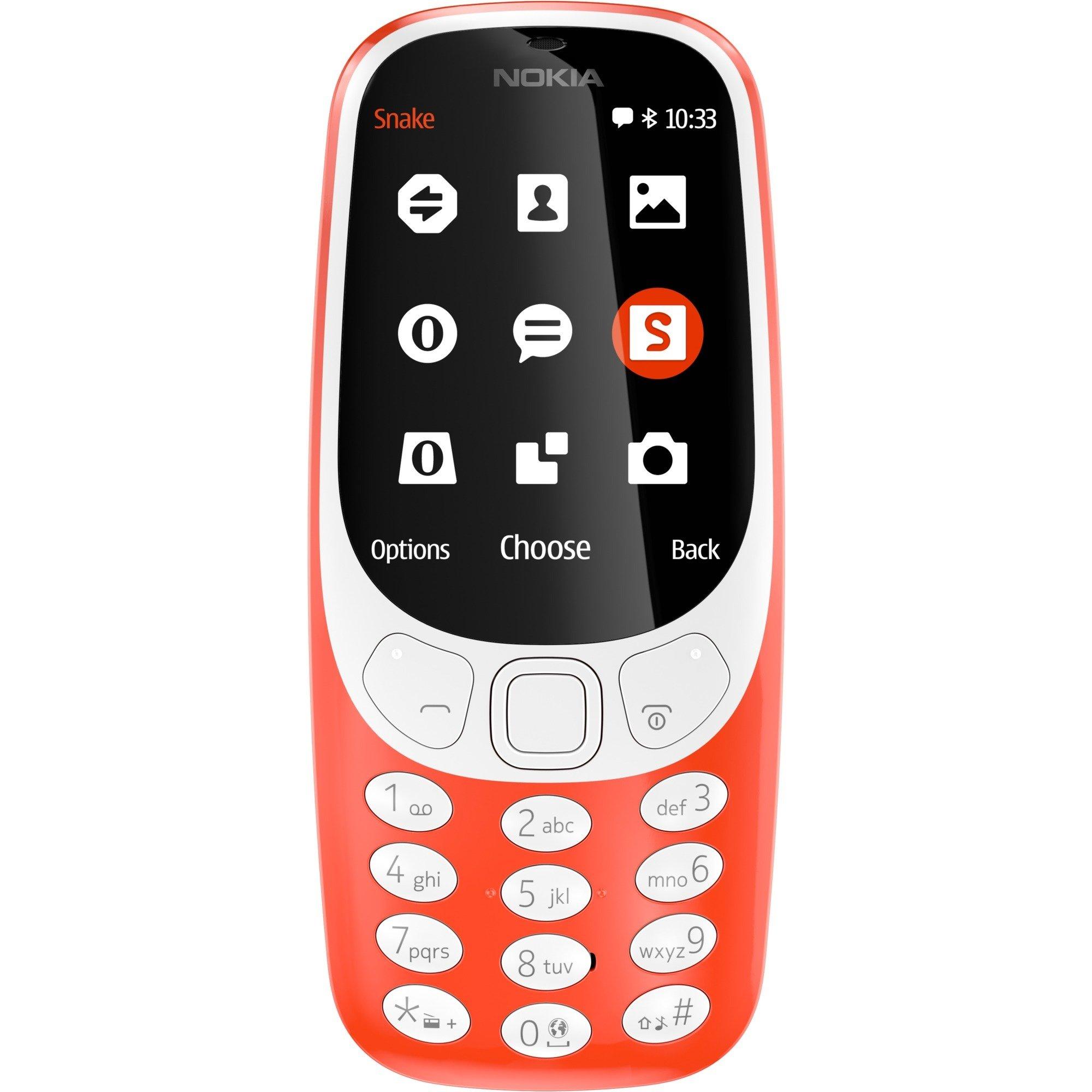 """3310 6,1 cm (2.4"""") Naranja Característica del teléfono, Móvil"""