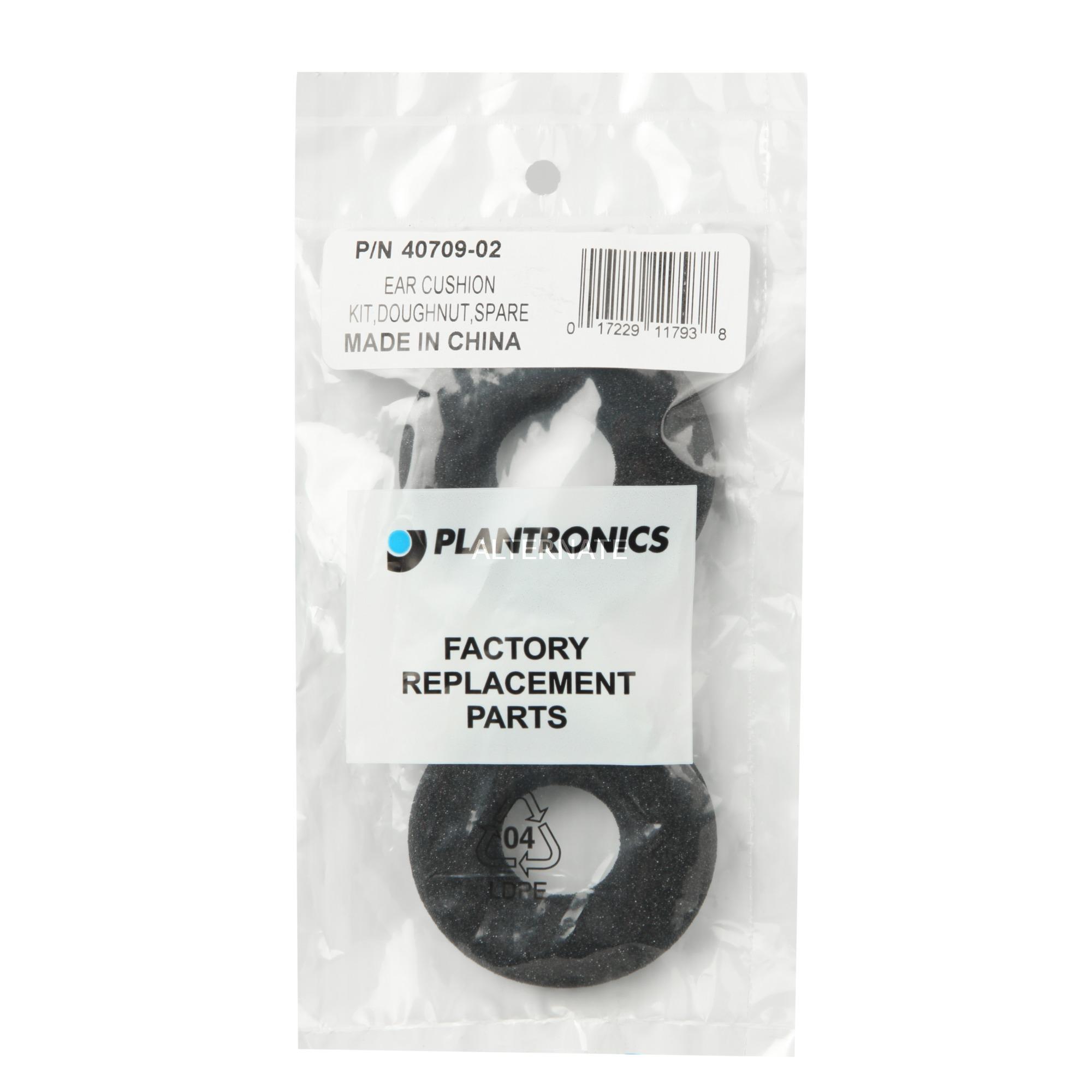 40709-02 almohadilla para auriculares Negro 2 pieza(s), Piezas de repuesto