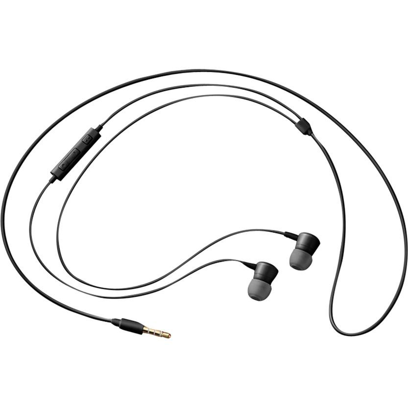 EO-HS130 Dentro de oído Binaural Alámbrico Negro auriculares para móvil, Auriculares con micrófono