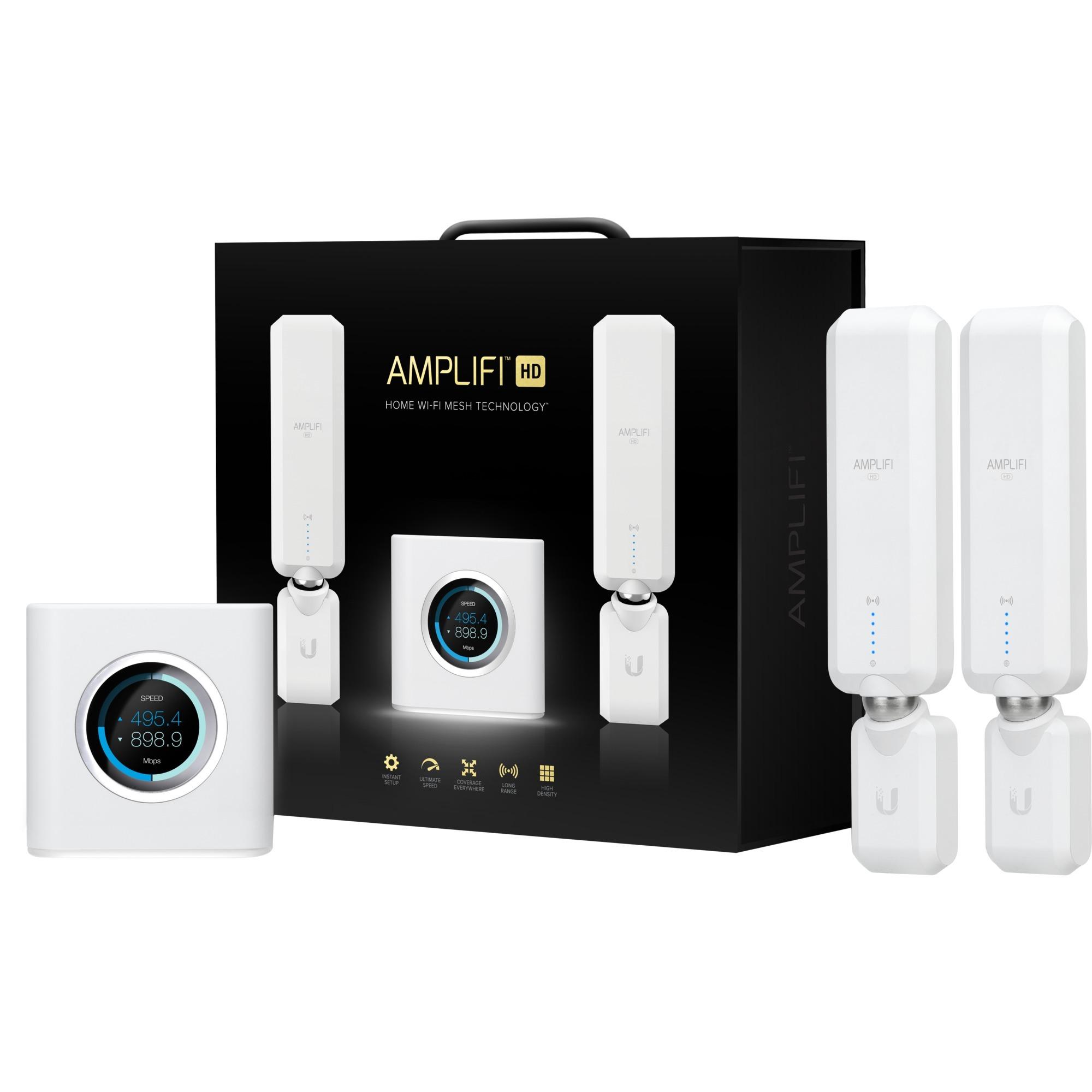 AmpliFi HD router inalámbrico Doble banda (2,4 GHz / 5 GHz) Gigabit Ethernet Blanco, Enrutador de malla