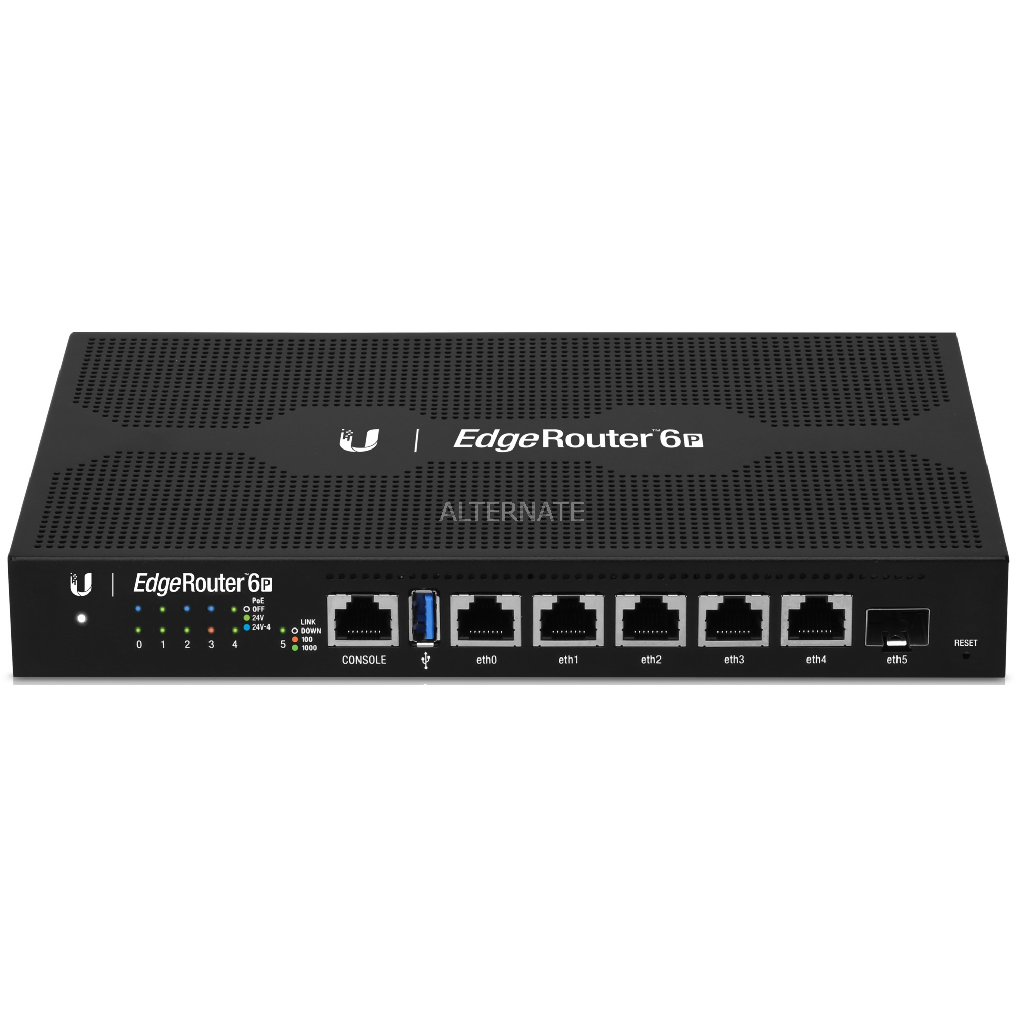 EdgeRouter 6P router Gigabit Ethernet Negro