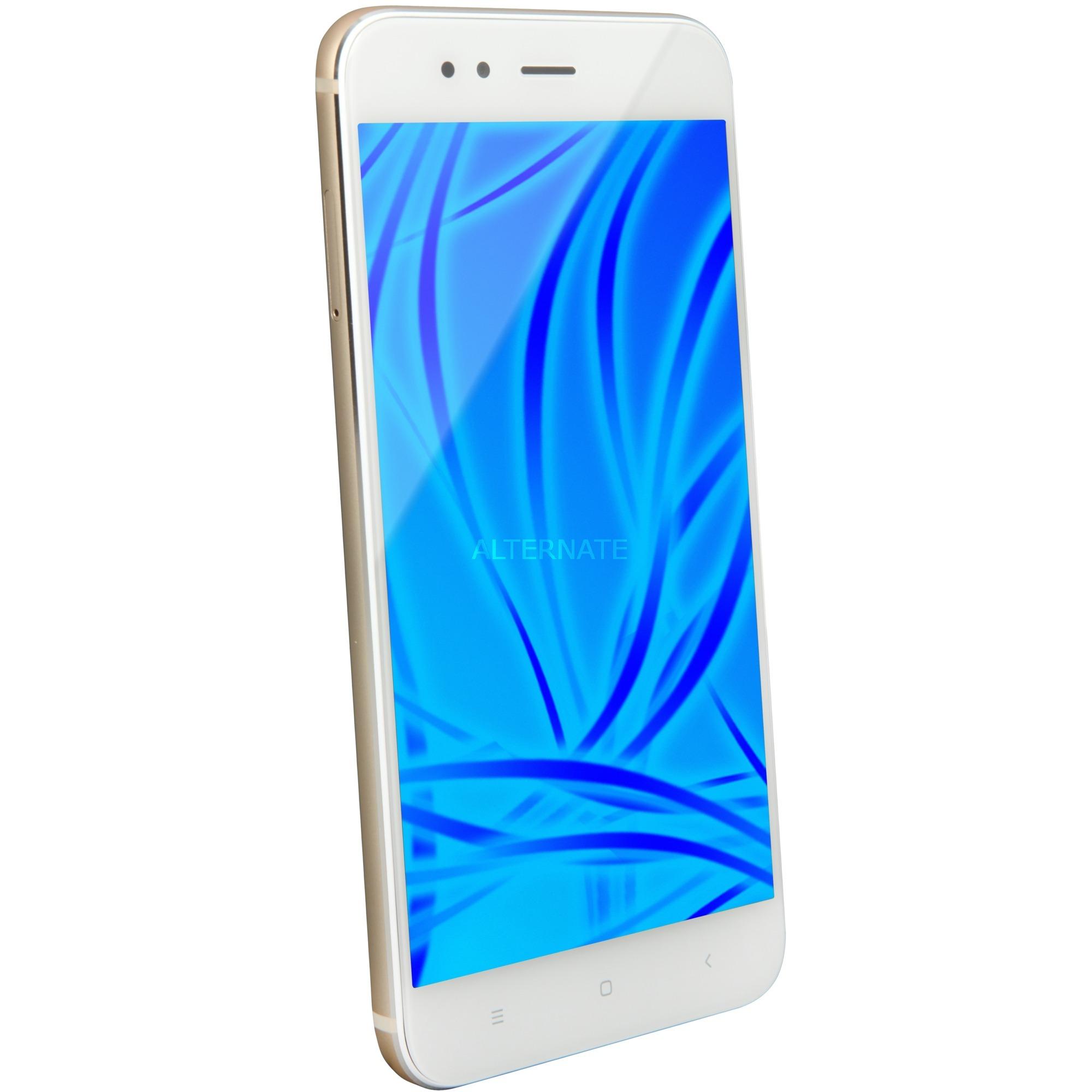 "Mi A1 14 cm (5.5"") 32 GB SIM doble 4G Oro, Blanco 3080 mAh, Móvil"
