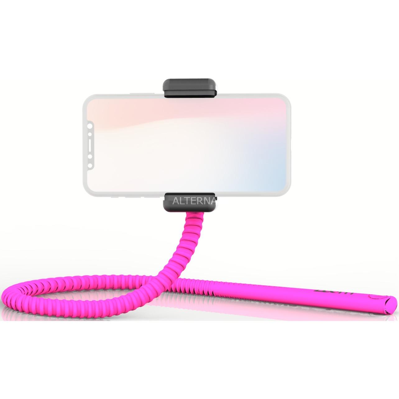GekkoStick palo para autofotos Smartphone Rosa, Selfie Stick
