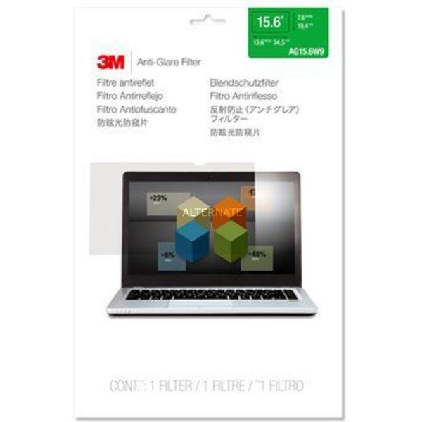 """AG156W9B Filtro de privacidad para pantallas sin marco 39,6 cm (15.6""""), Protección contra deslumbramiento"""