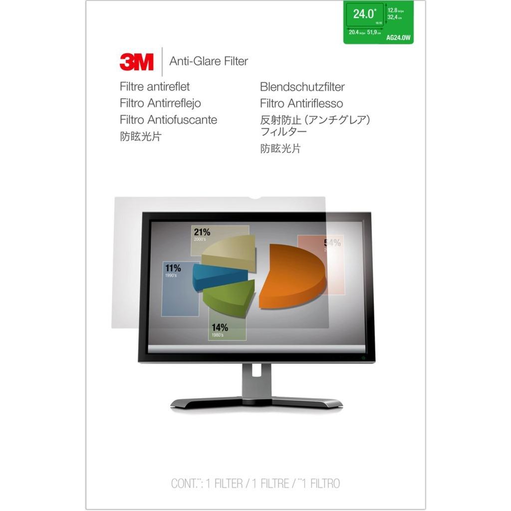 """Filtro antirreflejos de para monitor de escritorio con pantalla panorámica de 24"""" (16:10), Protección contra deslumbramiento"""