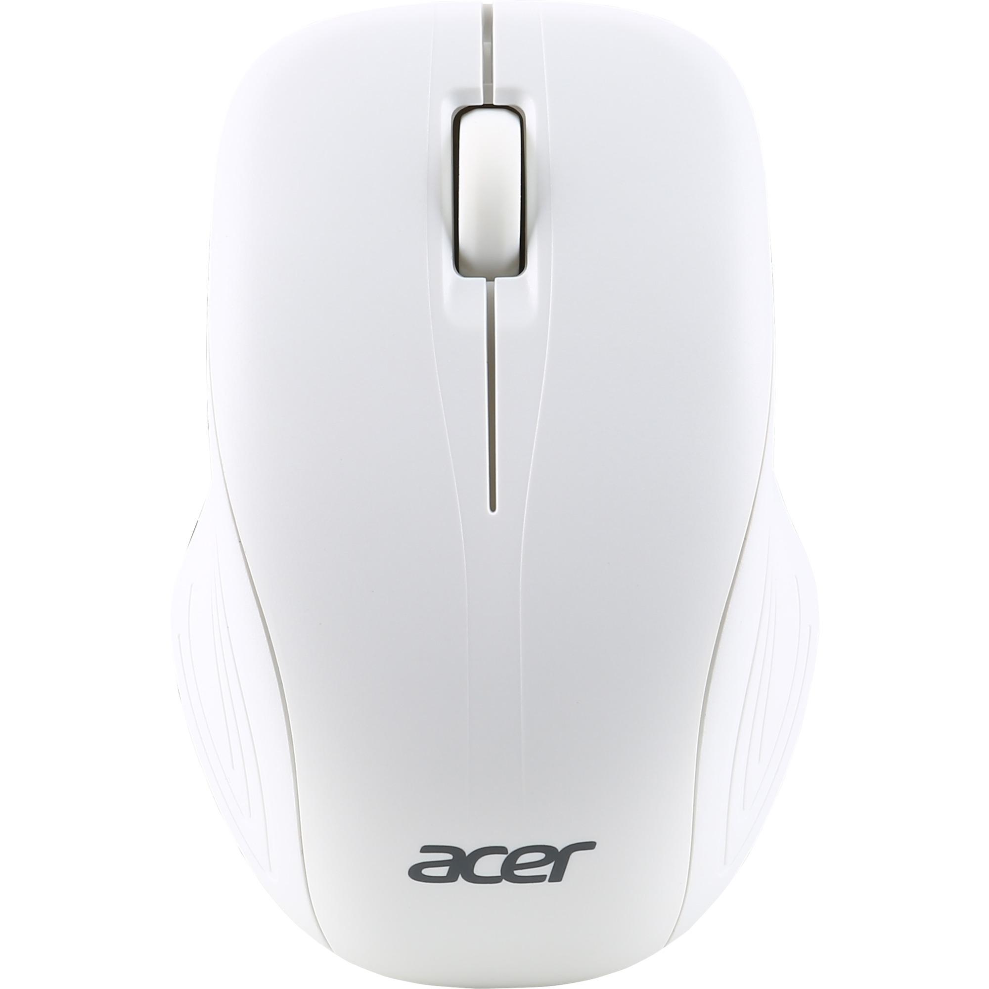 AMR510 ratón RF inalámbrico Óptico 1000 DPI Ambidextro Blanco