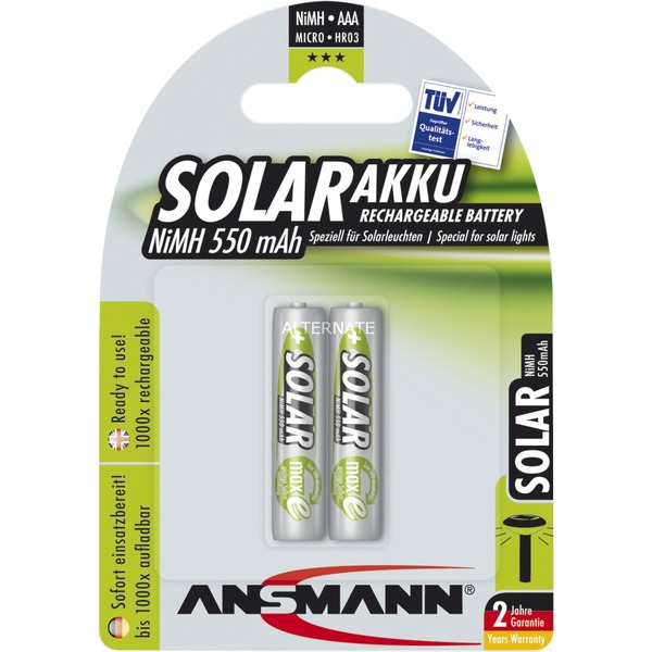 1311-0001 Níquel metal hidruro 550mAh 1.2V batería recargable