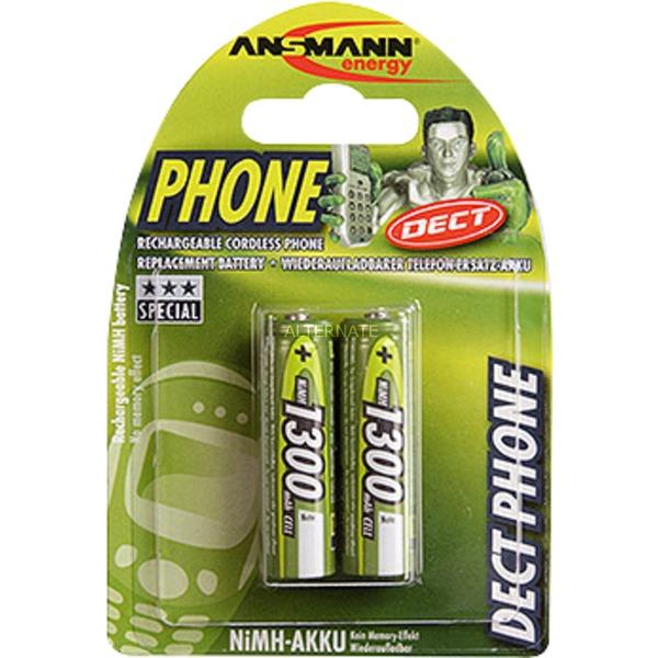 1.2 V rechargeable battery NiMH Níquel-metal hidruro (NiMH) 1300mAh batería recargable