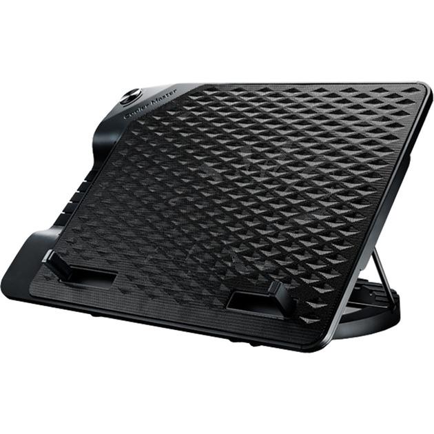 "NotePal Ergostand III almohadilla fría 43,2 cm (17"") 800 RPM Negro, Refrigerador para portátil"