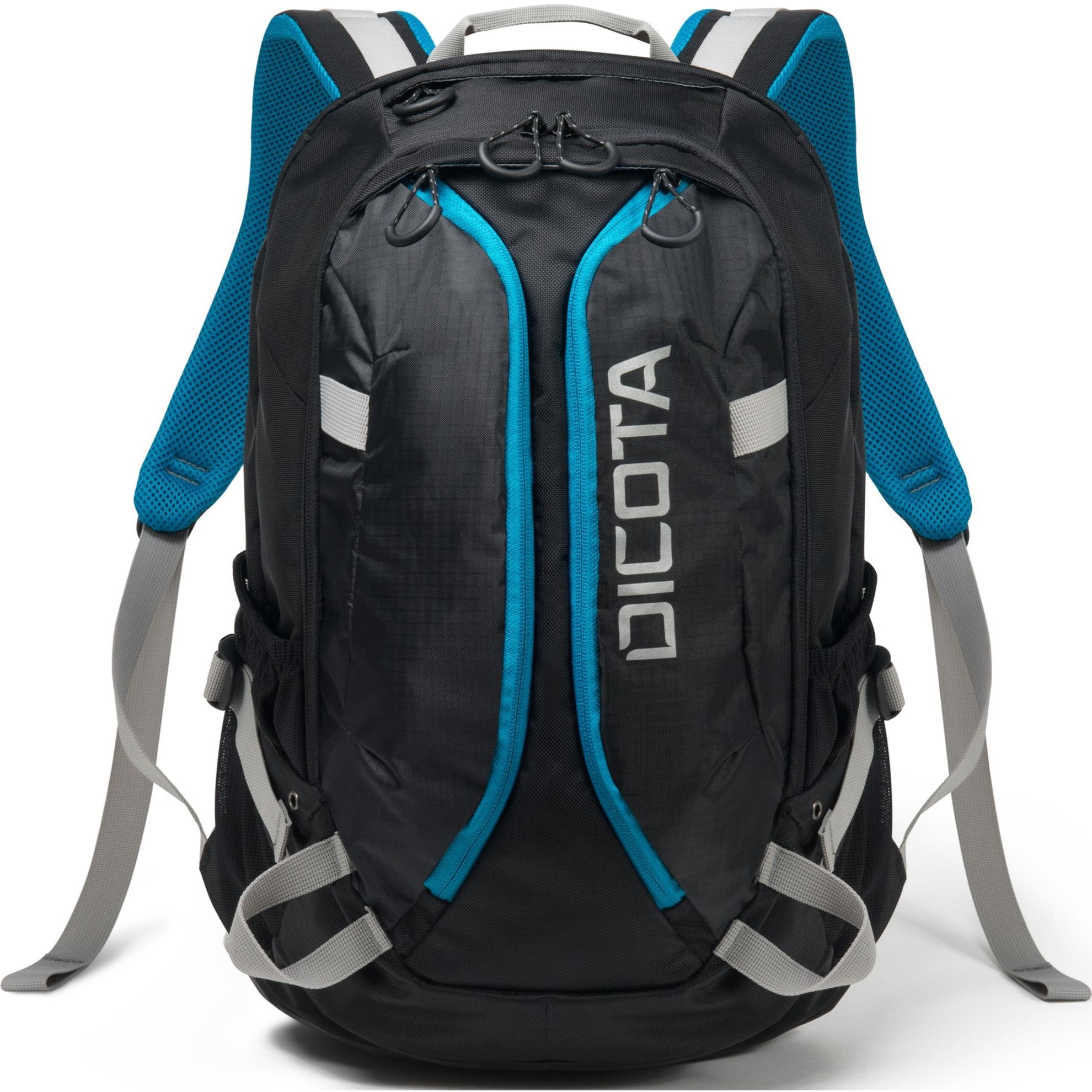 Active mochila Poliéster Negro, Azul