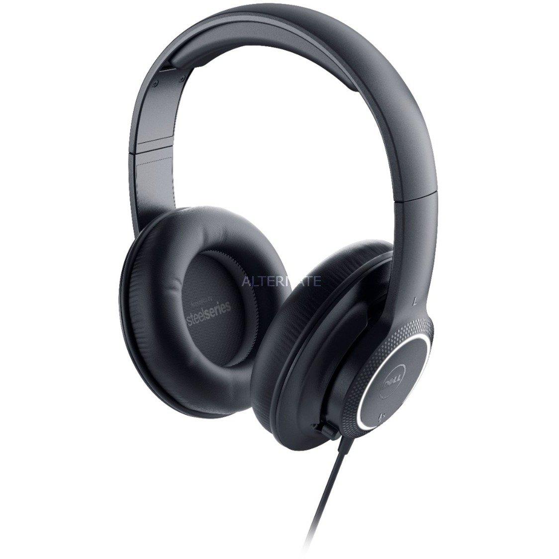 520-AAKK auricular con micrófono Binaural Diadema Negro, Auriculares con micrófono