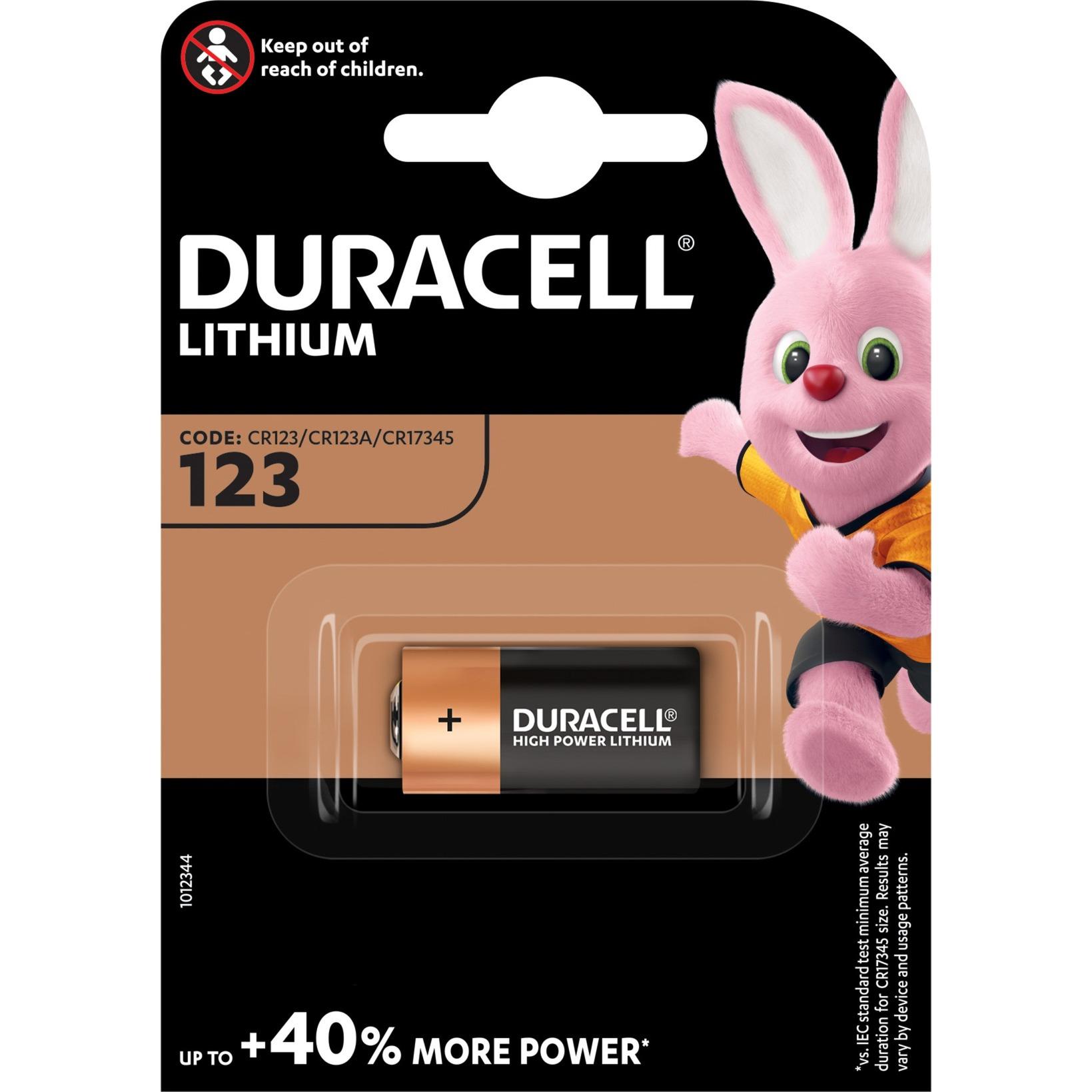 123106 pila doméstica Batería de un solo uso CR123A Litio