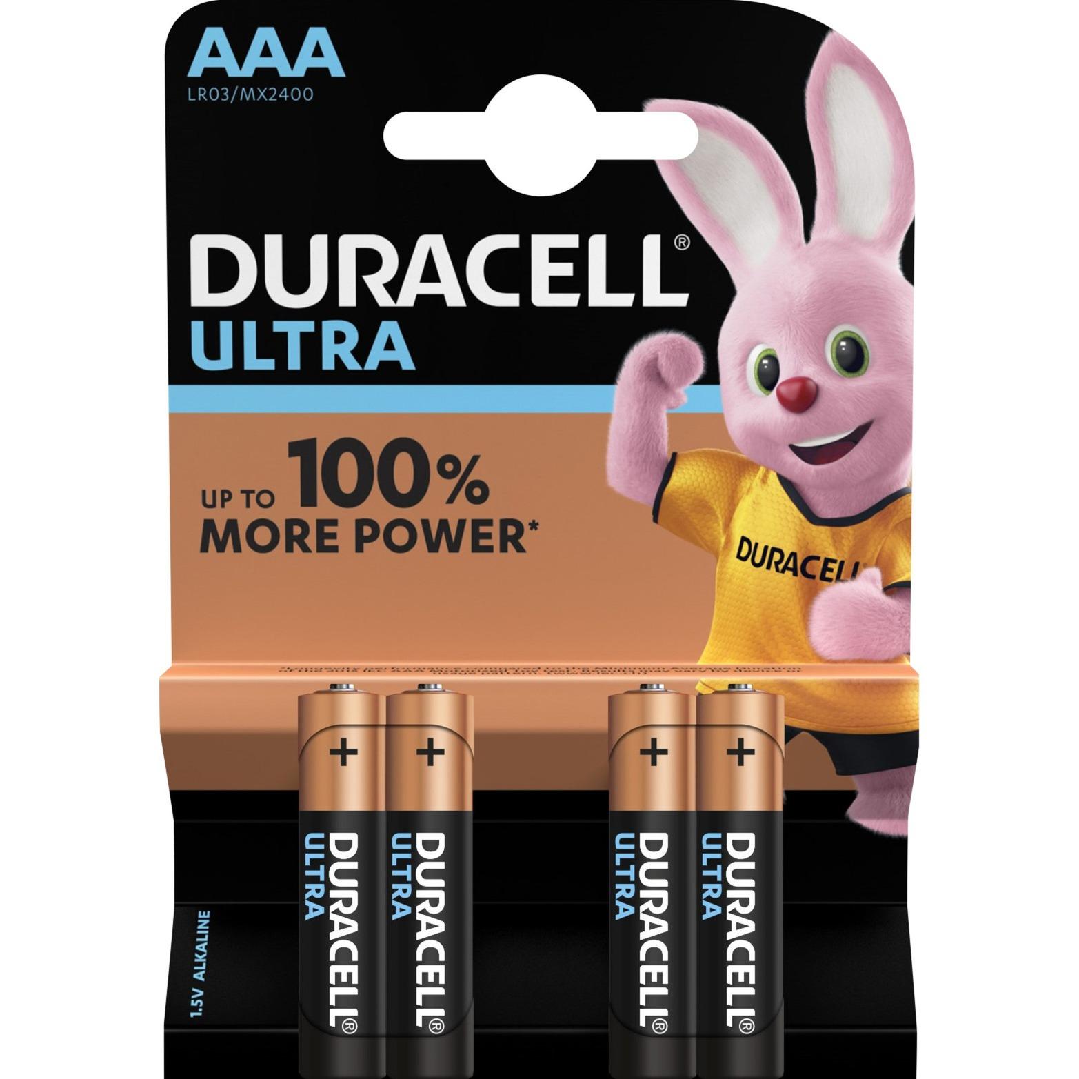 AAA Ultra Power (4pcs) Alcalino 1.5V batería no-recargable