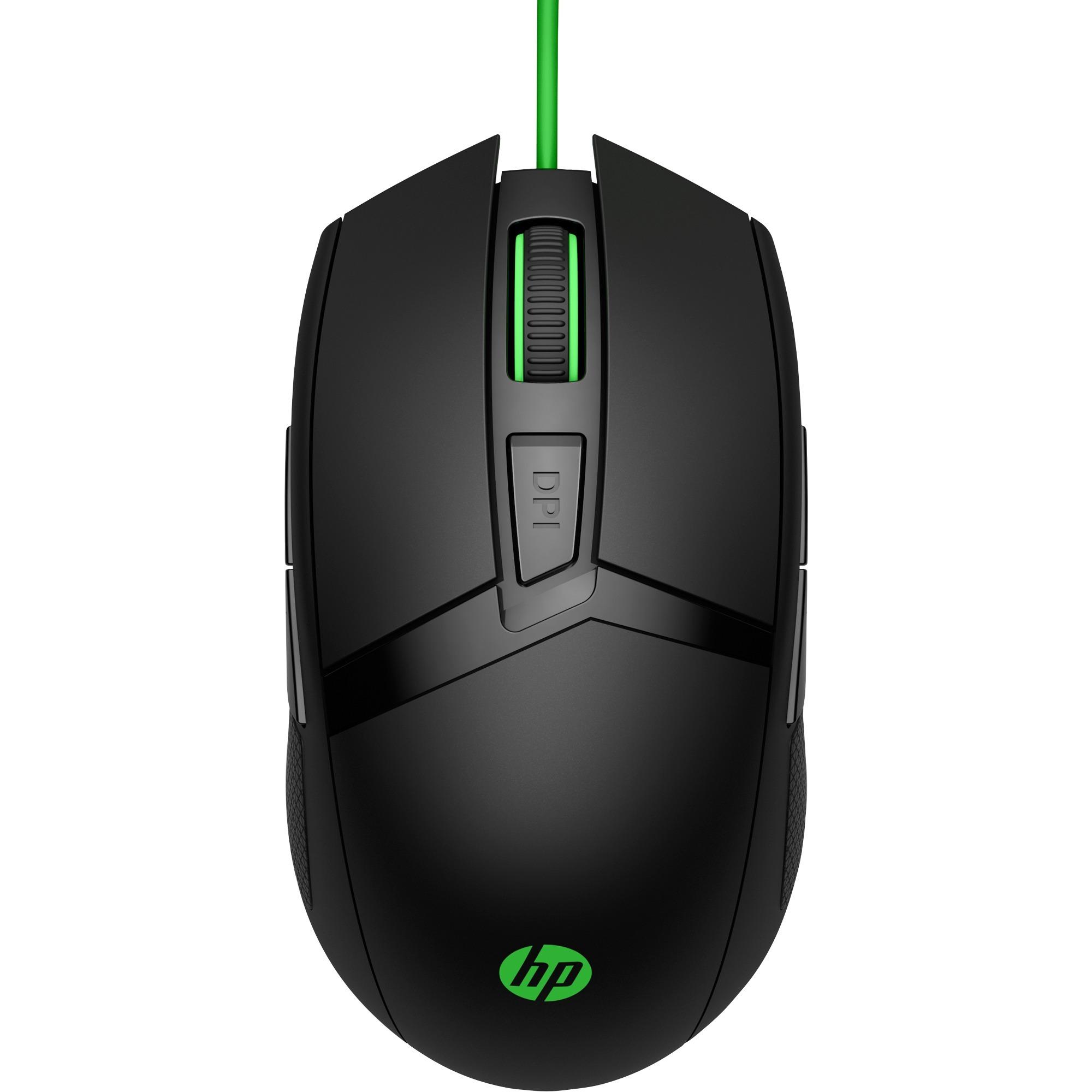 300 ratón USB Óptico 5000 DPI Ambidextro Negro, Verde