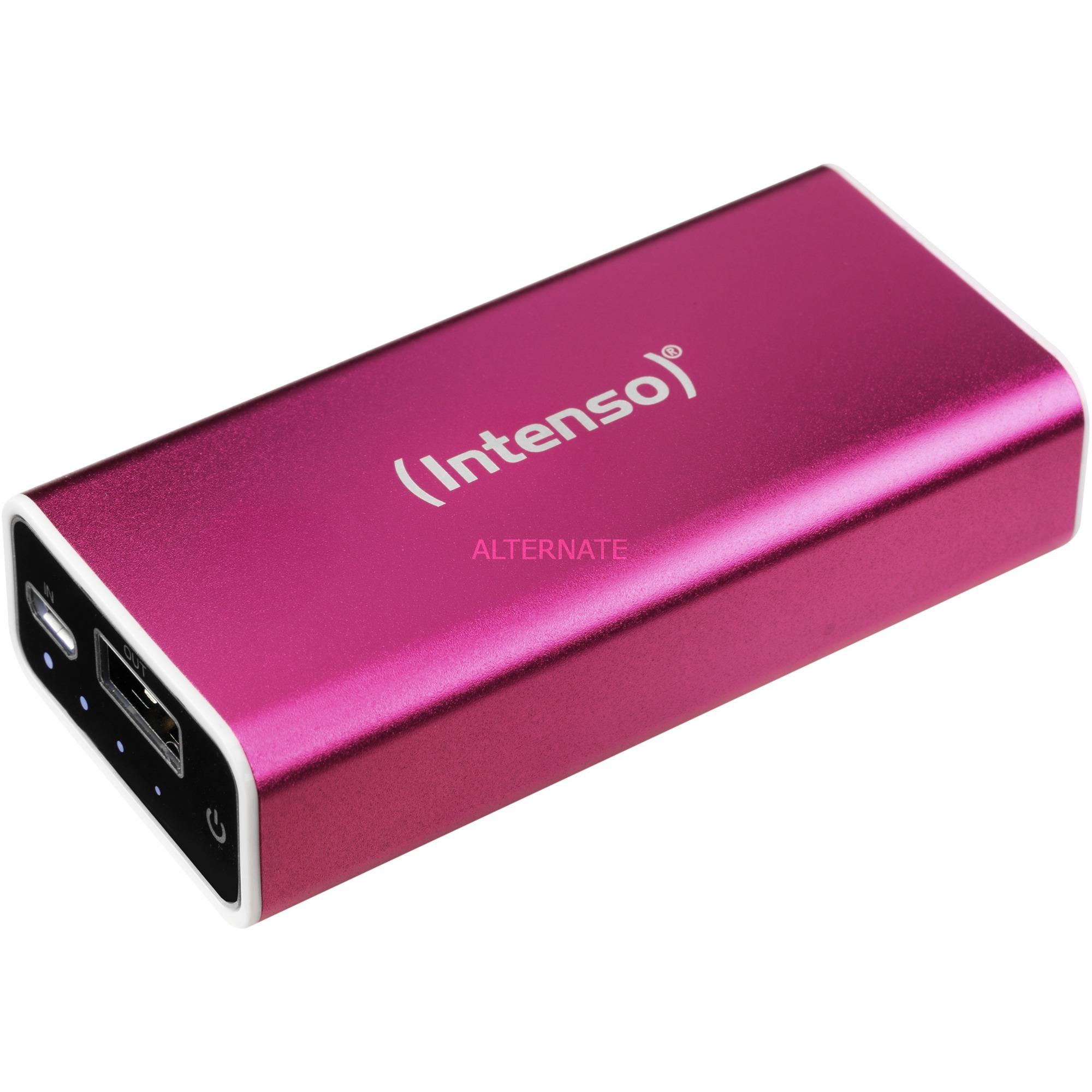 A5200 batería externa Rosa Ión de litio 5200 mAh, Banco de potencia
