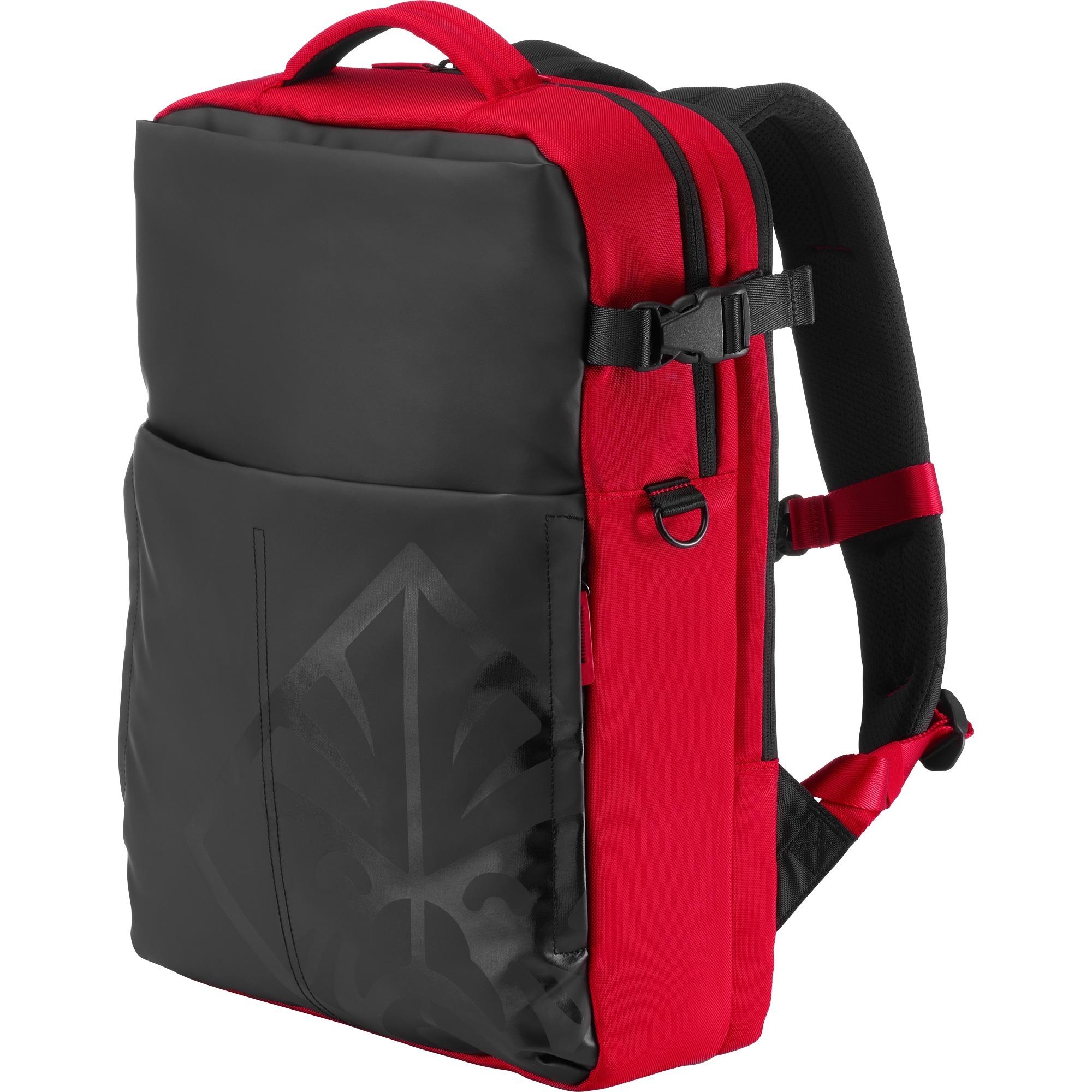 "OMEN maletines para portátil 43,9 cm (17.3"") Mochila Negro, Rojo"