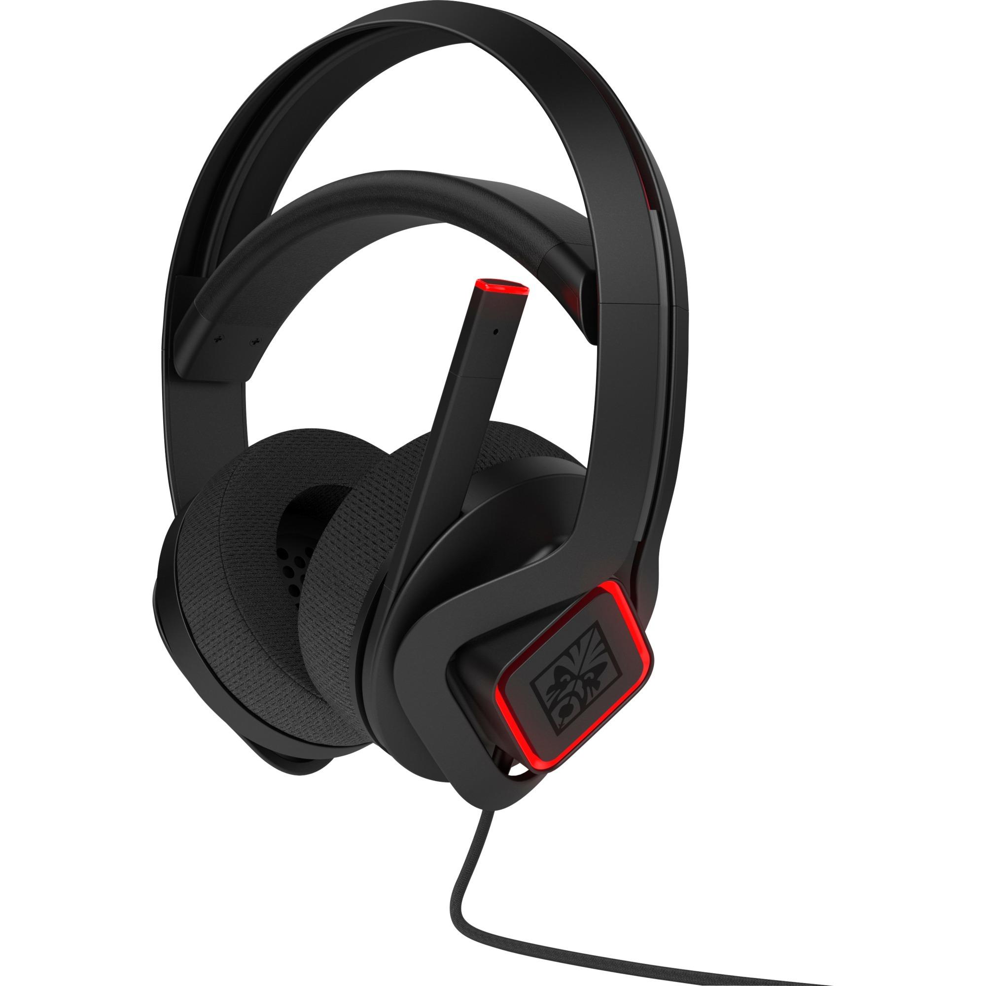 Omen X auricular con micrófono Binaural Diadema Negro, Rojo, Auriculares con micrófono
