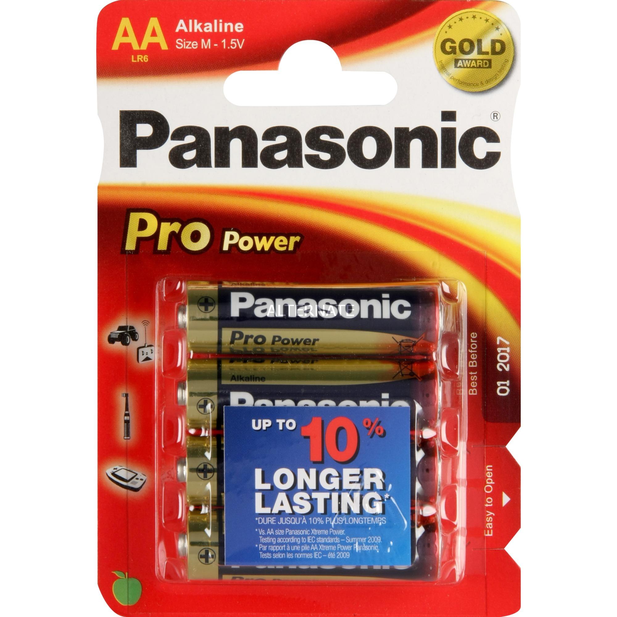 1x4 LR6PPG Alcalino 1.5V batería no-recargable