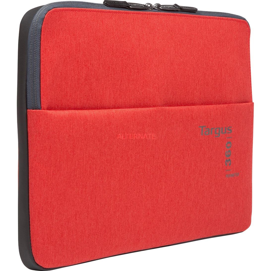 "360 Perimeter maletines para portátil 33,8 cm (13.3"") Funda Rojo, Bolsa"