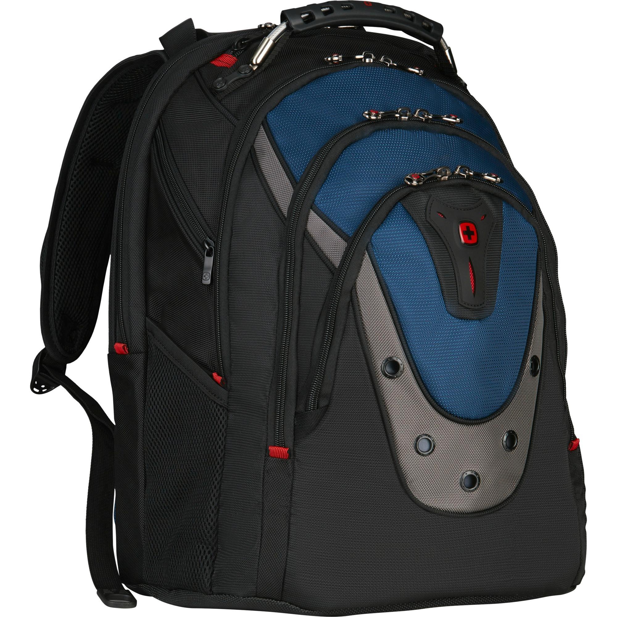 "600638 17"" Mochila Negro, Azul maletines para portátil"