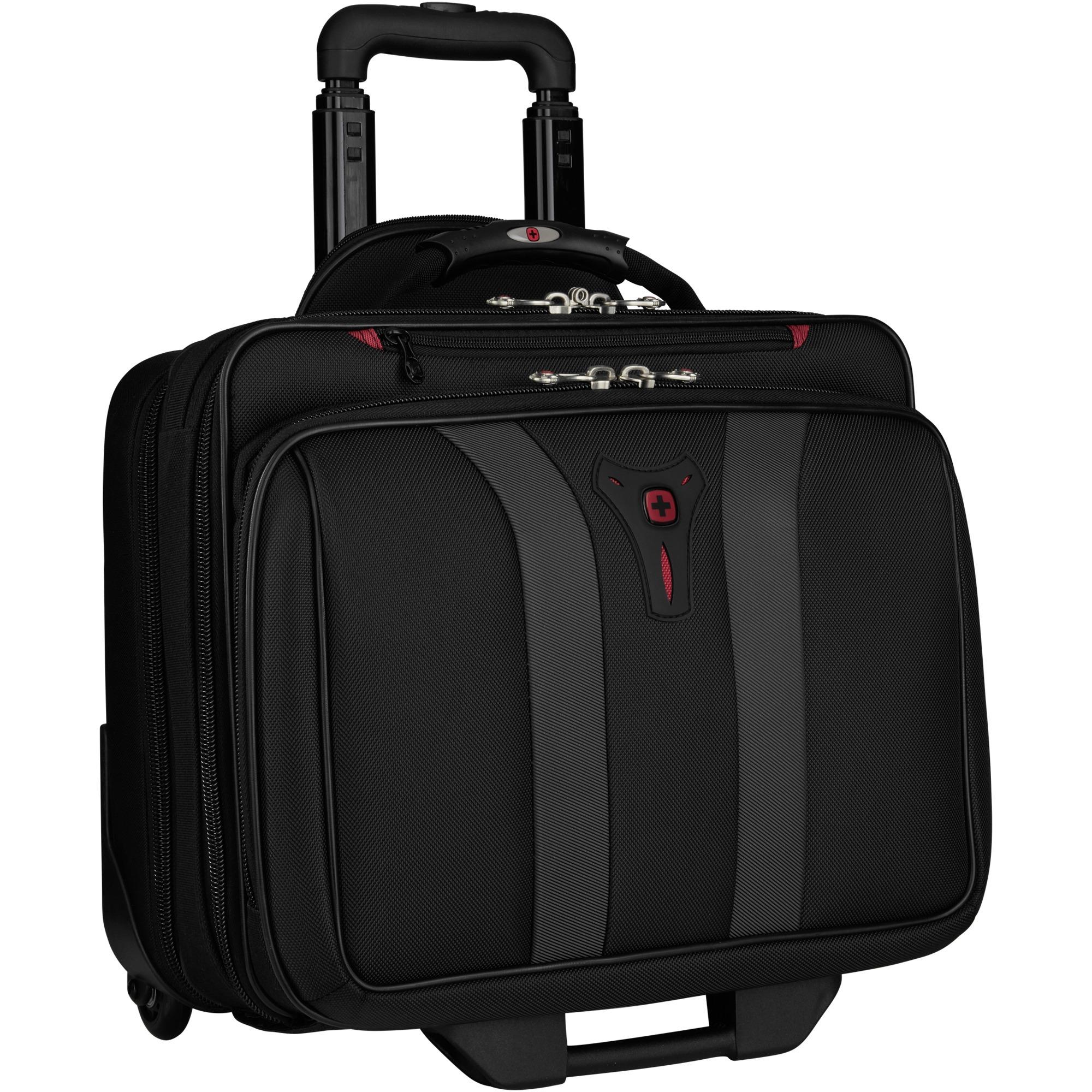 "600659 maletines para portátil 43,2 cm (17"") Maletín con ruedas Black, Carretilla"