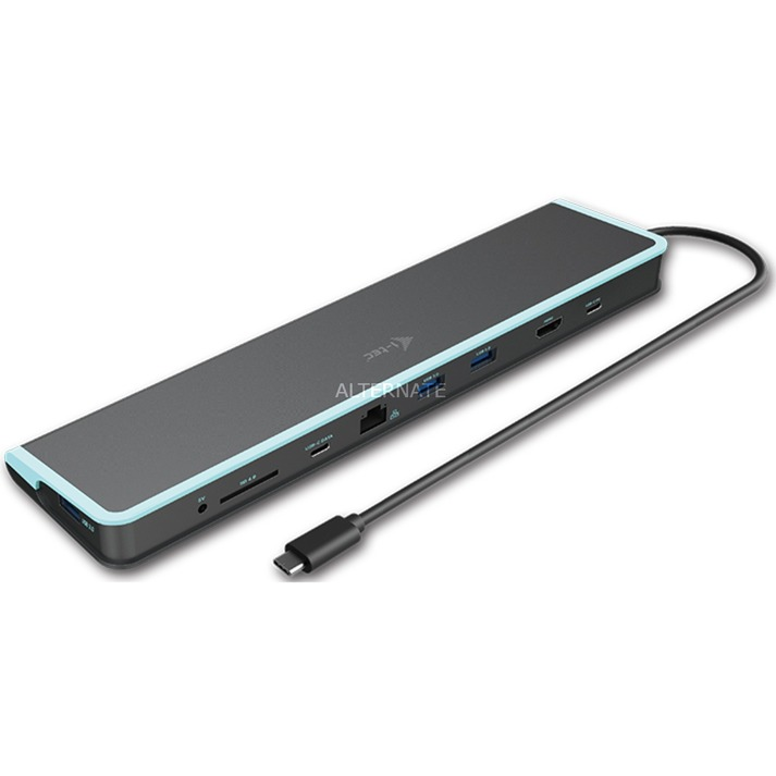 C31FLATDOCKPDV2 base para portátil y replicador de puertos USB 3.0 (3.1 Gen 1) Type-C Gris, Estación de acoplamiento