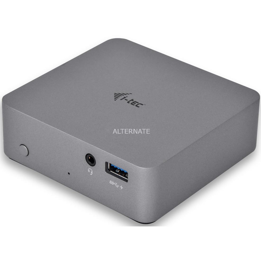 Metal USB-C replicador de puertos 4K de, Estación de acoplamiento