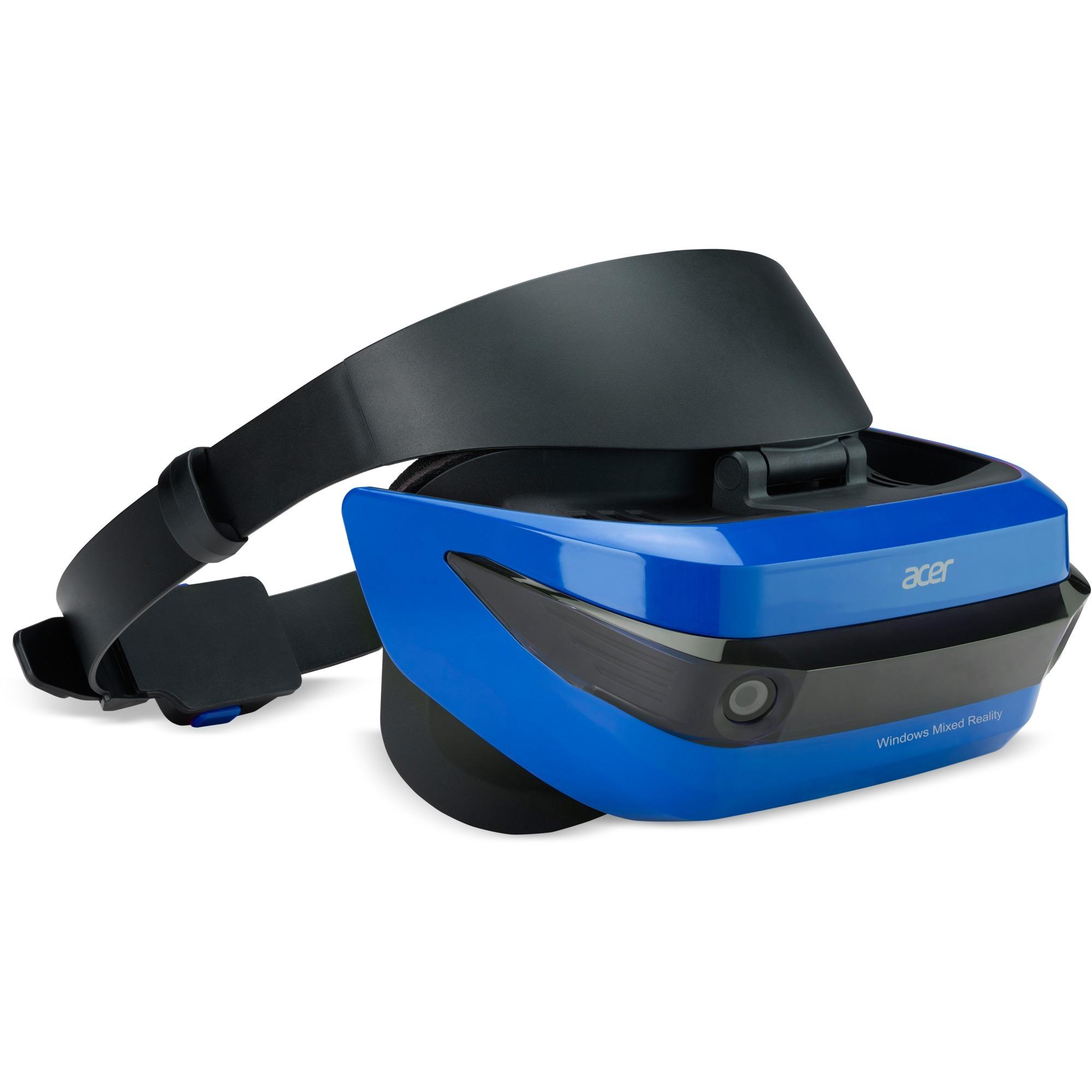AH100 Pantalla con montura para sujetar en la cabeza 350g Negro, Azul, Gafas de Realidad Virtual (VR)
