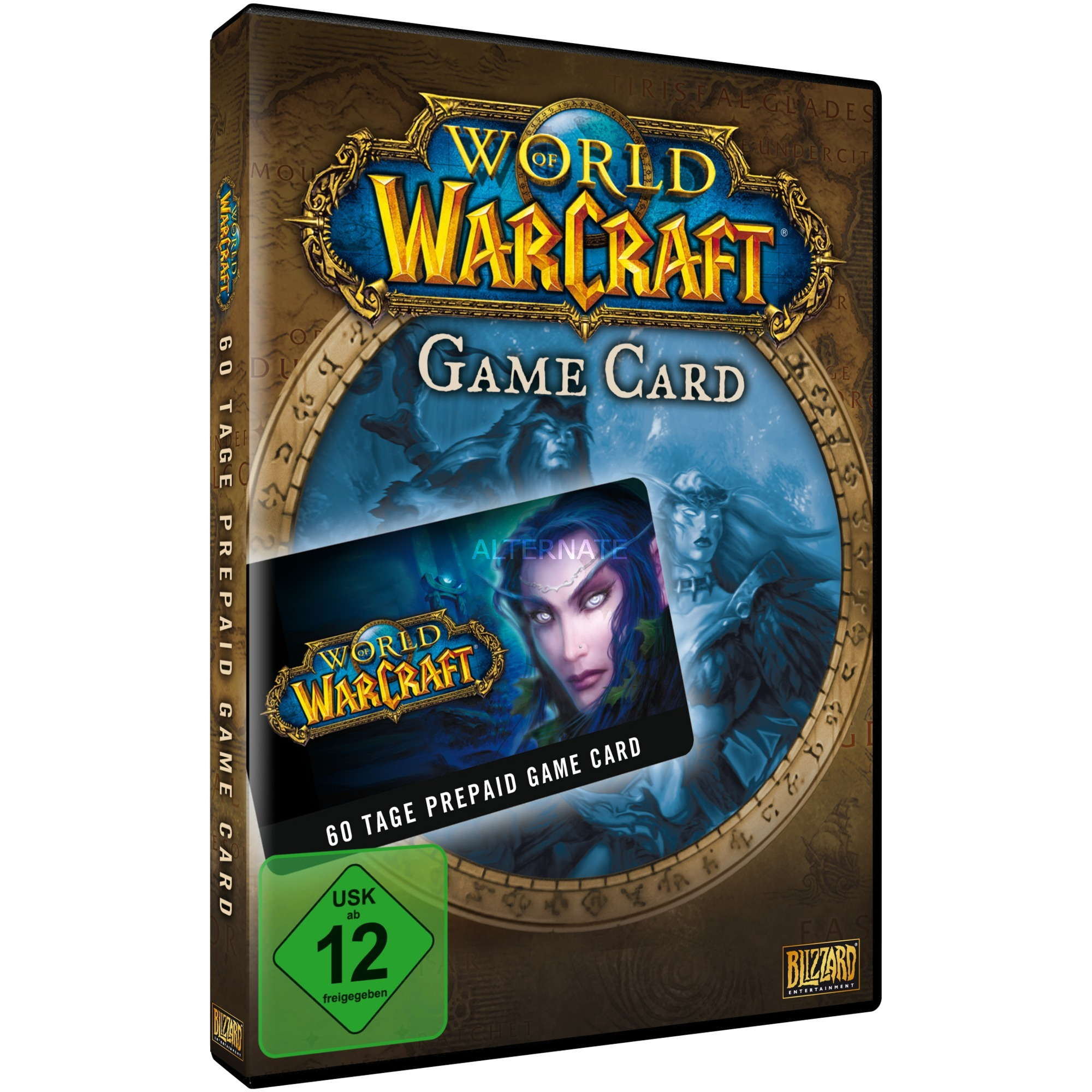 World of Warcraft 60 Day Pre-paid Game Card (PC/Mac) PC vídeo juego, Tarjeta de juego