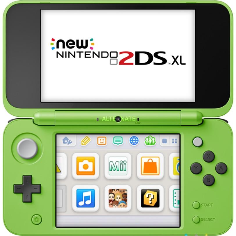 "New 2DS XL Minecraft Creeper Edition videoconsola portátil Verde 12,4 cm (4.88"") Pantalla táctil 4 GB Wifi"