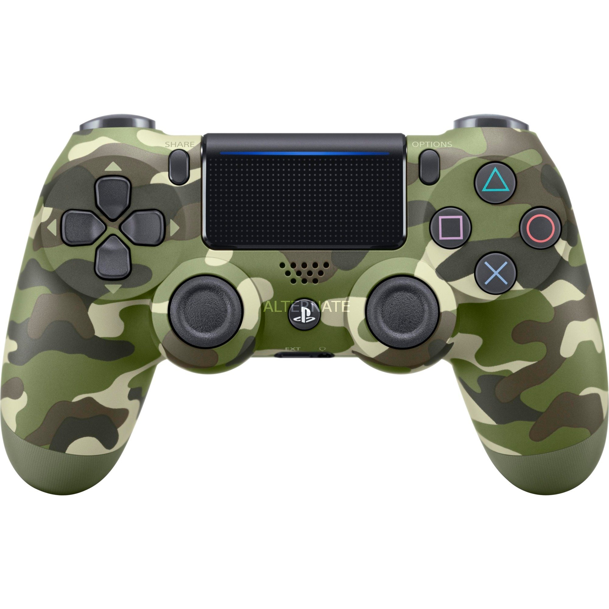 DualShock 4 Gamepad PlayStation 4 Analógico/Digital Bluetooth Camuflaje, Verde