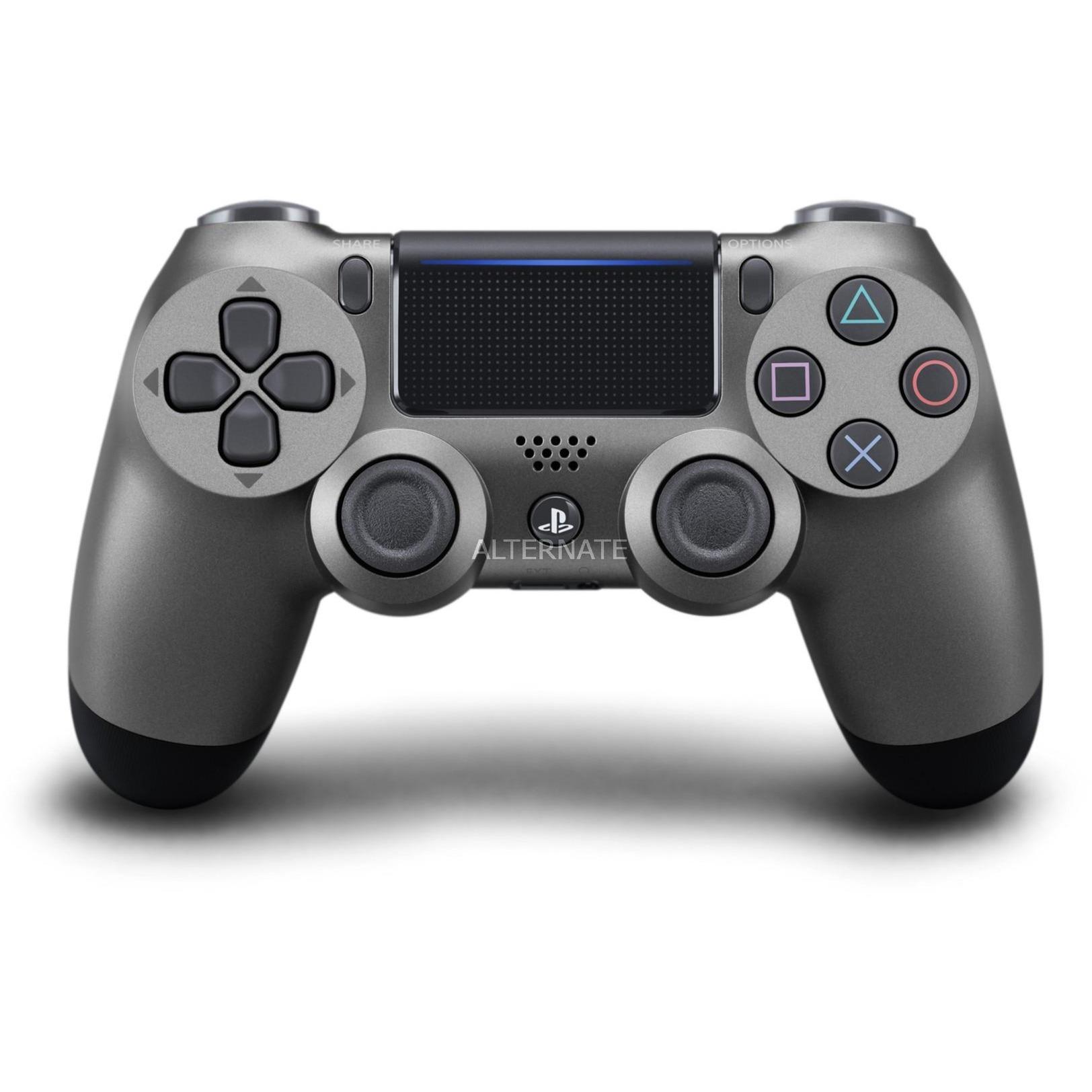 DualShock 4 v2 Gamepad PlayStation 4 Negro, Acero inoxidable