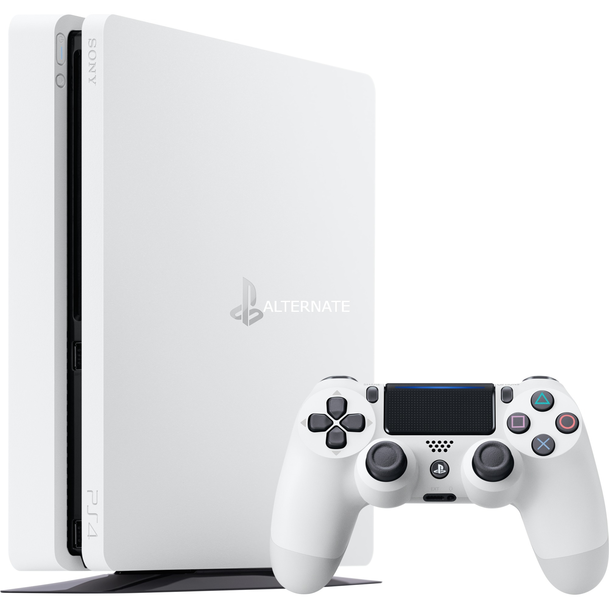 PS4 500GB Slim Glacier White 500GB Wifi Blanco, Videoconsola