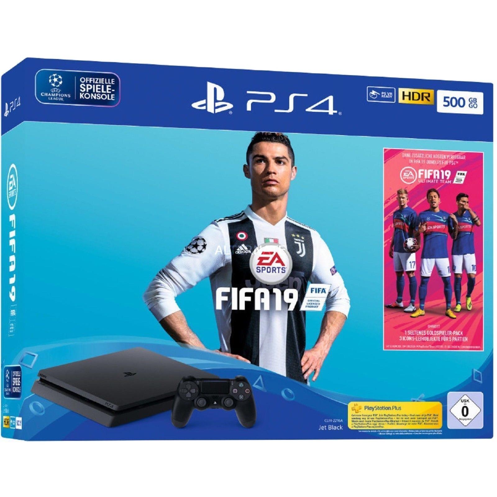 PlayStation 4 Slim 500GB + FIFA 19, Videoconsola