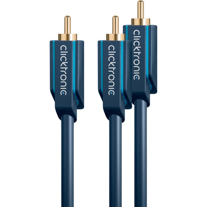 1m Subwoofer Cable cable de audio RCA 2 x RCA Azul
