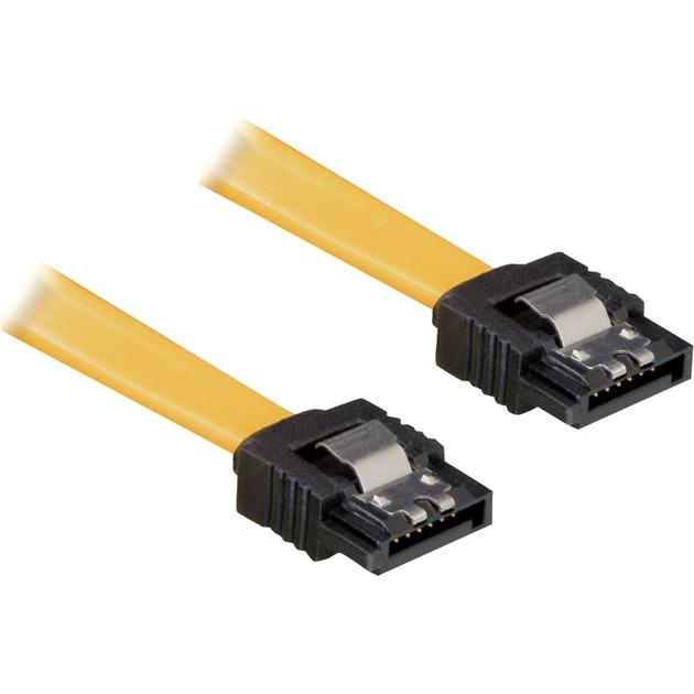 0.3m SATA Cable cable de SATA 0,3 m Amarillo