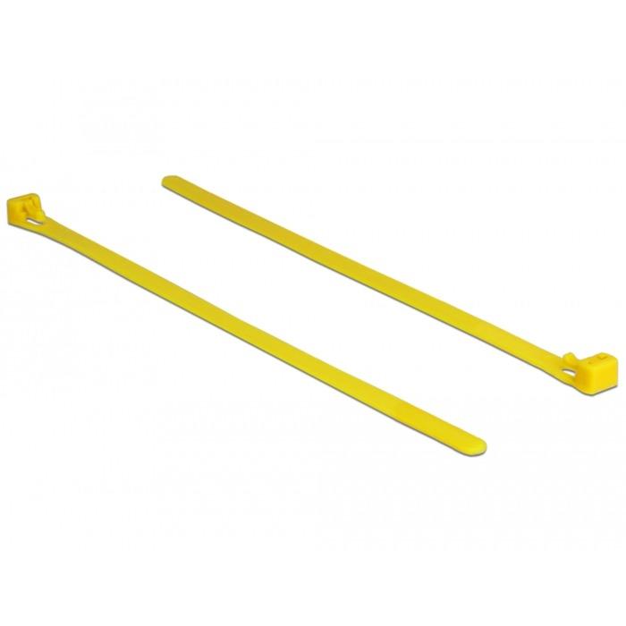 18759 presilla Releasable cable tie Nylon Amarillo 100 pieza(s), Atacables