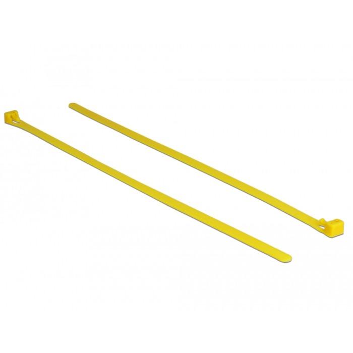 18761 presilla Releasable cable tie Nylon Amarillo 100 pieza(s), Atacables