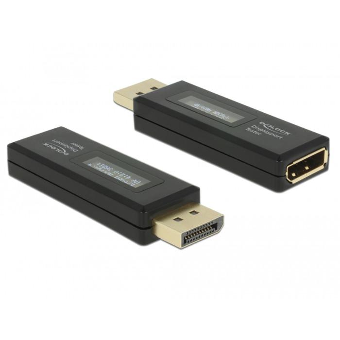 63338 adaptador de cable DisplayPort 20 pin Negro, Instrumento de medición