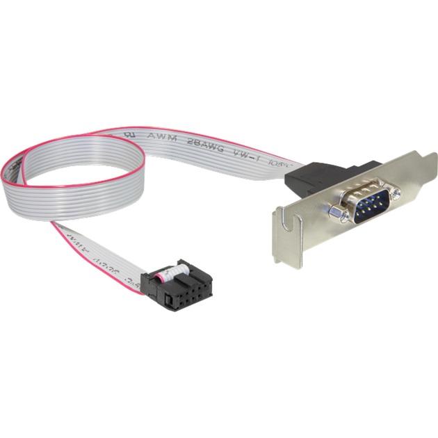 89300 0.4m DB9 9-p COM Gris cable de serie, Tapa de ranura