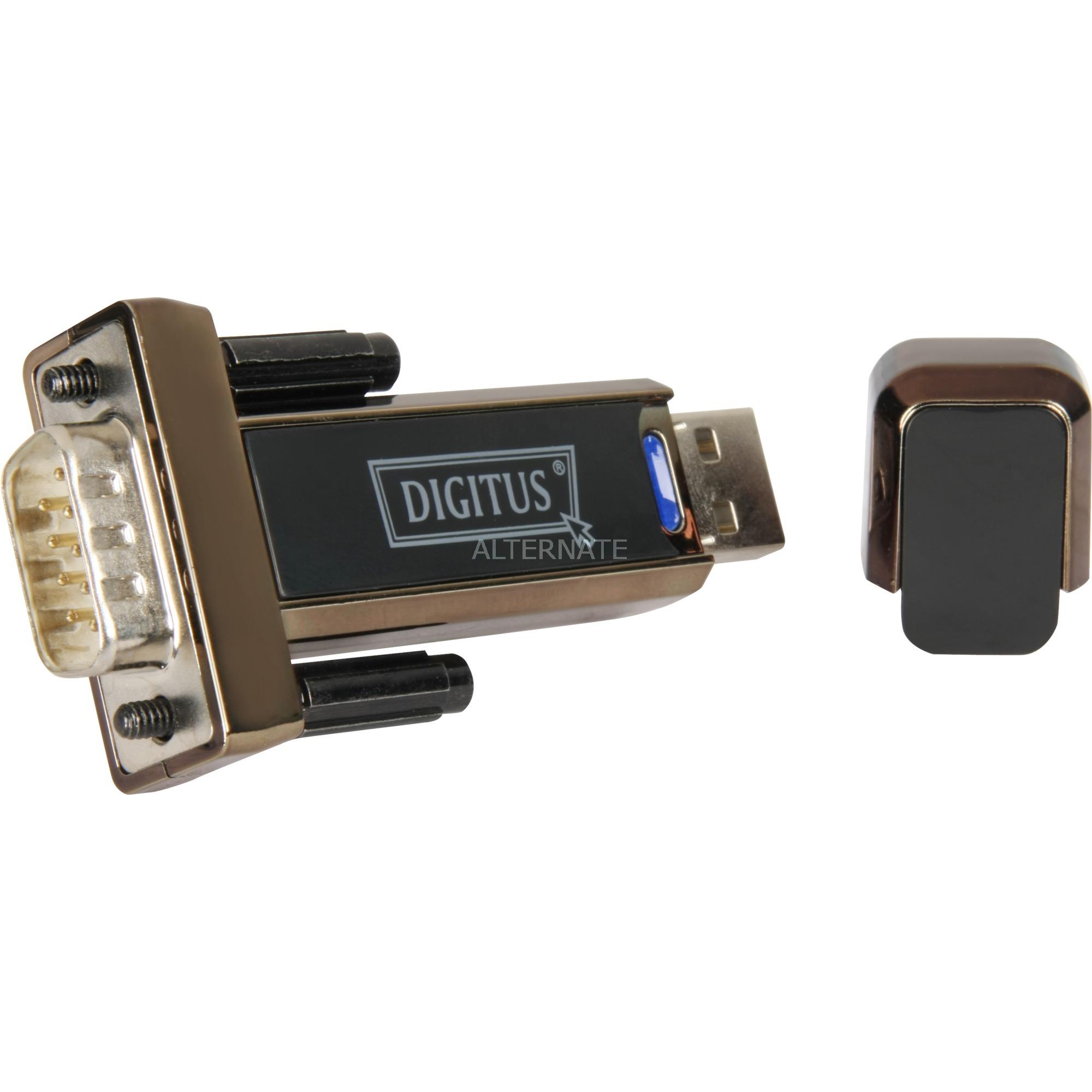 Converter USB 2.0 D-Sub 9 Male Negro, Adaptador