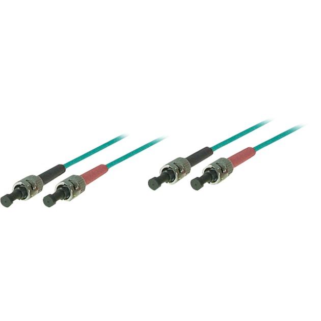 0.5m ST/ST cable de fibra optica 0,5 m OM3 Azul