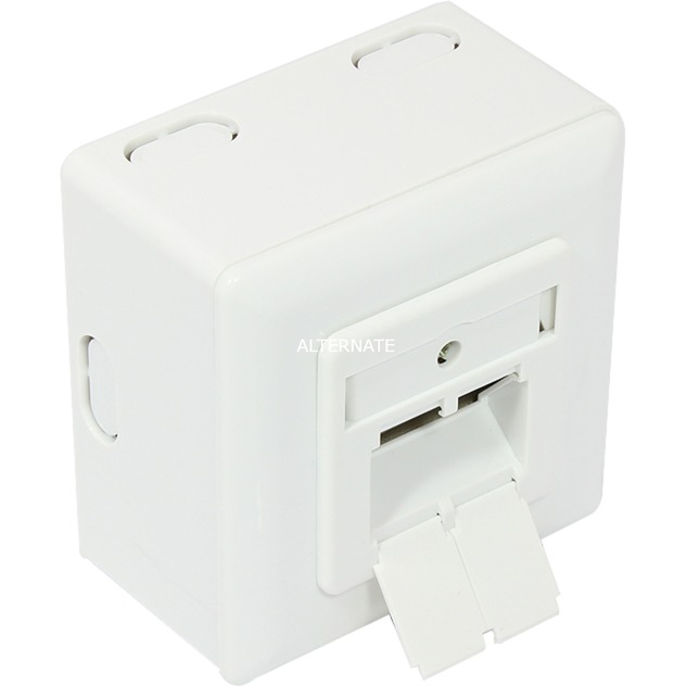 GC-N0022 RJ-45 Blanco toma de corriente, Caja de pared
