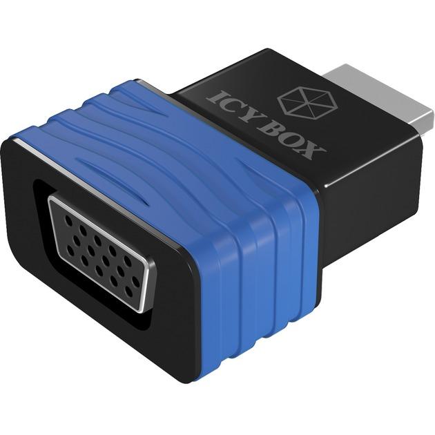 HDMI - VGA, M/F HDMI VGA Negro, Azul adaptador de cable